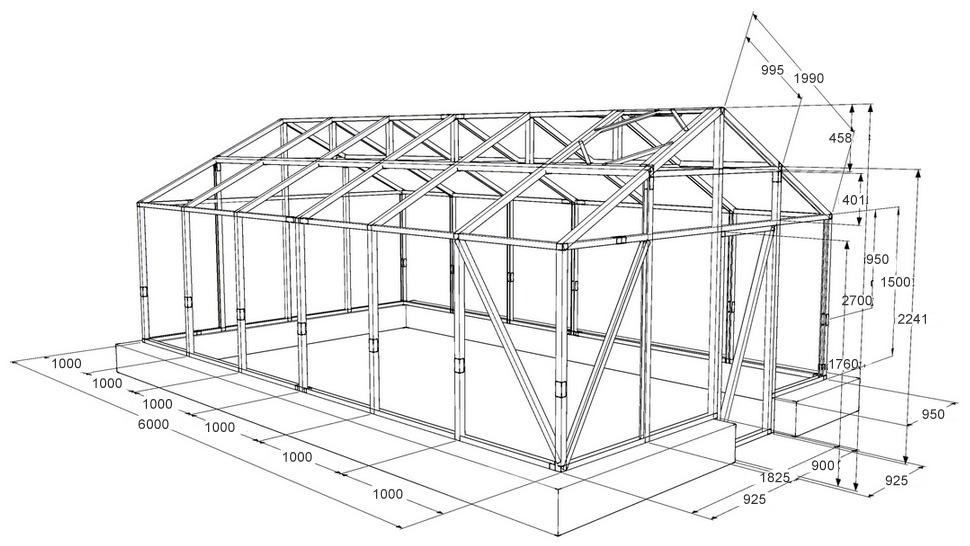Как построить теплицу с поликарбоната своими руками